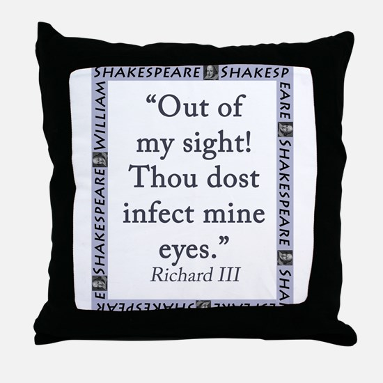 Out Of My Sight Throw Pillow
