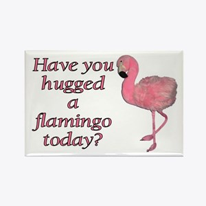 Flamingo Hug Magnet