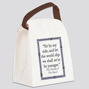 Sit By My Side Canvas Lunch Bag