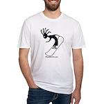Kokopelli Snowboarder Fitted T-Shirt