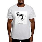 Kokopelli Snowboarder Ash Grey T-Shirt