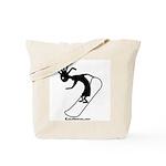 Kokopelli Snowboarder Tote Bag