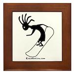 Kokopelli Snowboarder Framed Tile