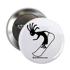 Kokopelli Snowboarder Button