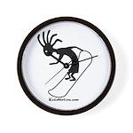 Kokopelli Snowboarder Wall Clock