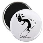 Kokopelli Snowboarder Magnet