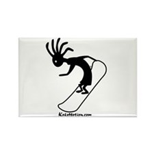 Kokopelli Snowboarder Rectangle Magnet (10 pack)