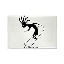 Kokopelli Snowboarder Rectangle Magnet (100 pack)