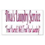 Diva's Laundry Service L Sticker (Rectangle 10 pk)