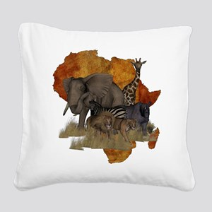Safari Square Canvas Pillow