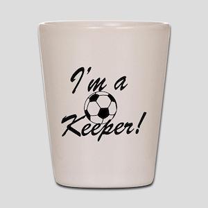 Im a Keeper Blk Shot Glass