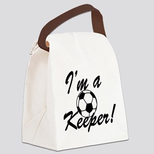 Im a Keeper Blk Canvas Lunch Bag