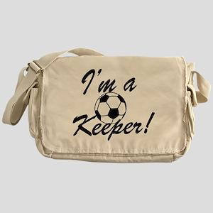 Im a Keeper Blk Messenger Bag