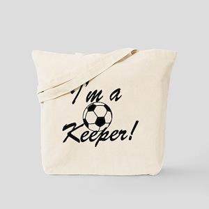 Im a Keeper Blk Tote Bag