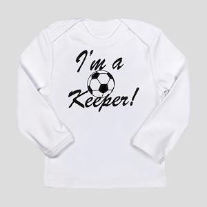 Im a Keeper Blk Long Sleeve Infant T-Shirt