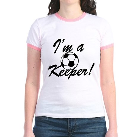 Im a Keeper Blk Jr. Ringer T-Shirt
