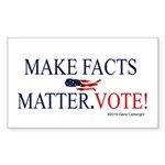 Make Facts Matter. Vote. Sticker (Rectangle 10 pk)
