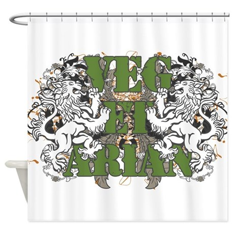 Vegetarian Lions Shower Curtain