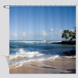 Hawaii North Shore Beach Shower Curtain