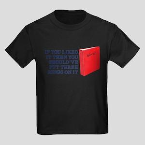 Put Three Rings on it Kids Dark T-Shirt