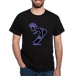 Kokopelli Snowboarder Black T-Shirt