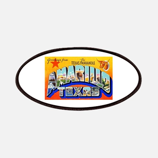 Amarillo Texas Greetings Patches