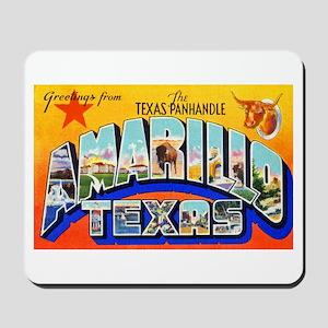Amarillo Texas Greetings Mousepad