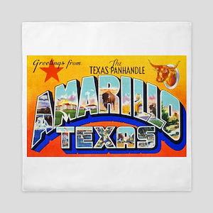 Amarillo Texas Greetings Queen Duvet
