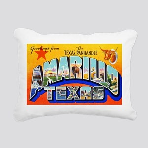 Amarillo Texas Greetings Rectangular Canvas Pillow