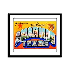 Amarillo Texas Greetings Framed Panel Print