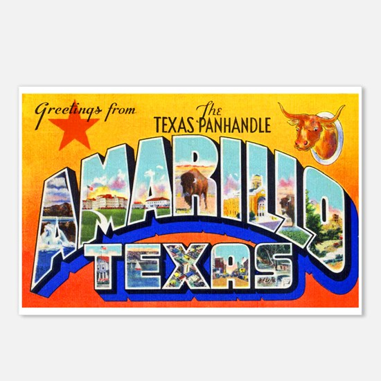 Amarillo Texas Greetings Postcards (Package of 8)