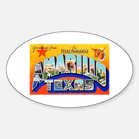 Amarillo Texas Greetings Sticker (Oval)