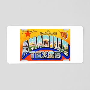 Amarillo Texas Greetings Aluminum License Plate