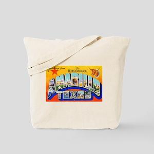 Amarillo Texas Greetings Tote Bag