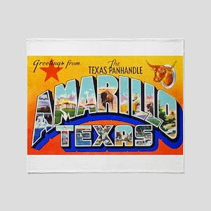 Amarillo Texas Greetings Throw Blanket