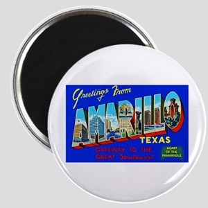 Amarillo Texas Greetings Magnet