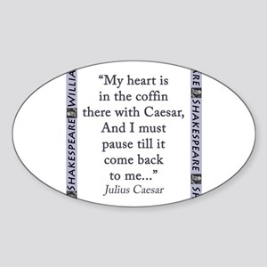 My Heart Is In the Coffin Sticker (Oval)