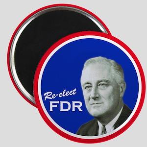 FDR - Vintage Campaign Magnet