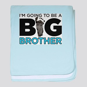Im Going To Be A Big Brother baby blanket