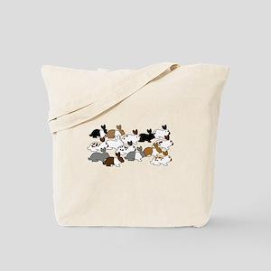 Many Bunnies Tote Bag