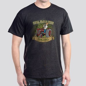 Still Plays with Red Tractors Dark T-Shirt