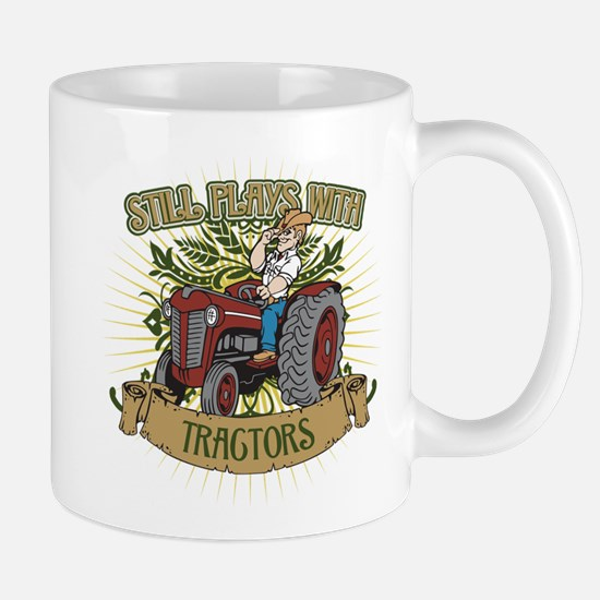 Still Plays with Red Tractors Mug