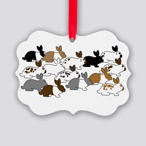 Many Bunnies Picture Ornament