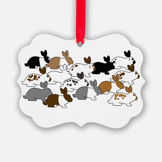 Many Bunnies Ornament