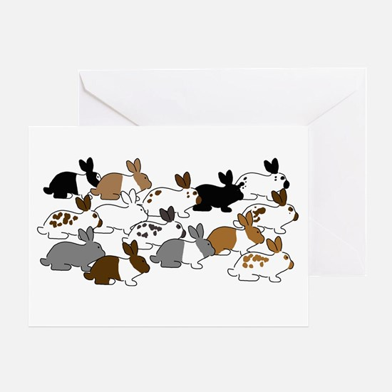 Many Bunnies Greeting Card