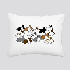 Many Bunnies Rectangular Canvas Pillow
