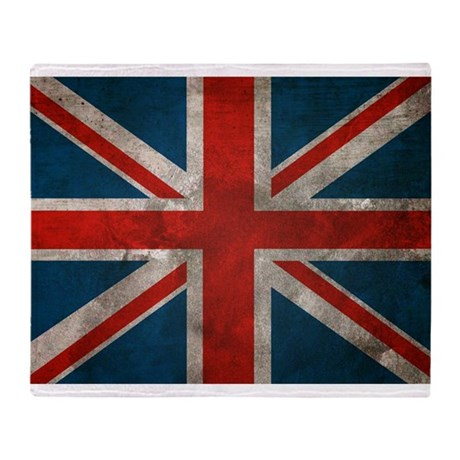 UK British English Union Jack Throw Blanket
