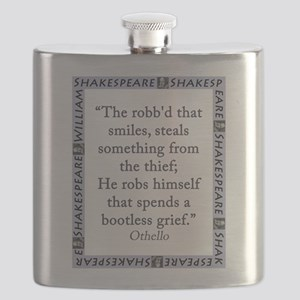 The Robbd That Smiles Flask
