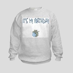It's My Birthday 6 Kids Sweatshirt