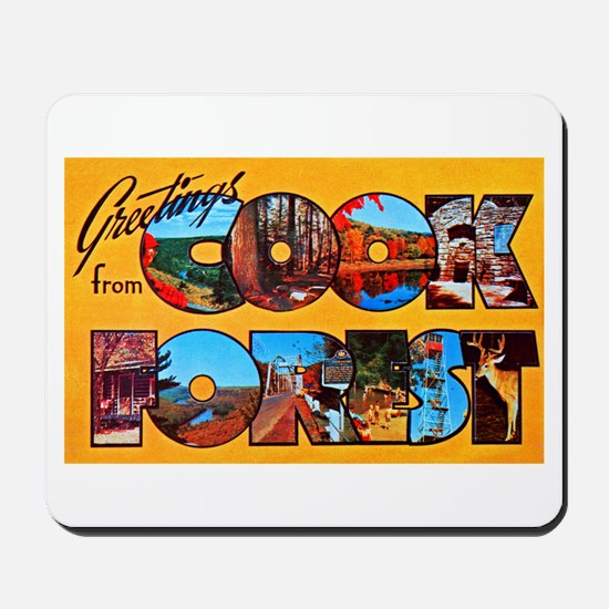 Cook Forest Greetings Mousepad